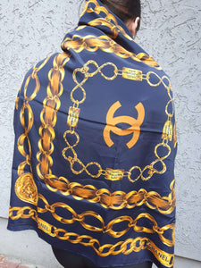 CHANEL CHAIN DESIGN SCARF | 31 Rue Cambon |:[Past out]:[vintage clothes]