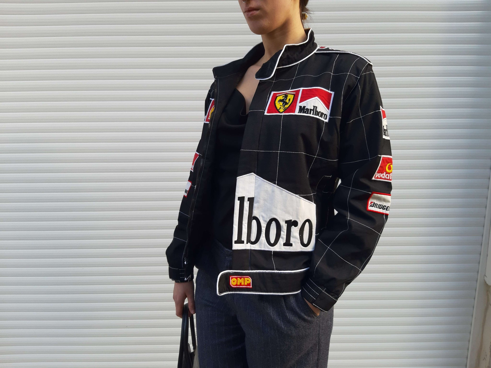 00 S Racing F1 Paded Bomber Jacket Ferrari Marlboro S M Past Out