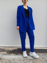 INDIGO BLUE PANTSUIT | M/L:[Past out]:[vintage clothes]