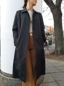 BURBERRY TRENCH | black | M:[Past out]:[vintage clothes]