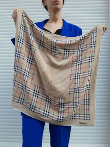 BURBERRY SILK SCARF | nova check:[Past out]:[vintage clothes]