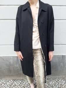 BURBERRY TRENCH COAT | black | M:[Past out]:[vintage clothes]