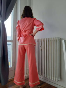 60s PIJAMAS | pant suit | S:[Past out]:[vintage clothes]