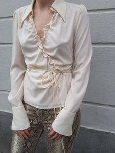 Y2K Sinequanone LAP BLOUSE | ruffle | M:[Past out]:[vintage clothes]