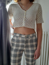 KNIT TOP | cropped | S:[Past out]:[vintage clothes]