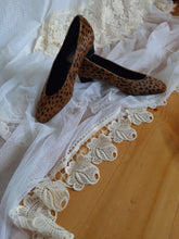 Leopard Print Pumps | Calf Fur | Kitten Heel | 40:[Past out]:[vintage clothes]
