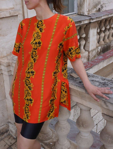 Vintage Blouse made out of Versace Silk | M:[Past out]:[vintage clothes]