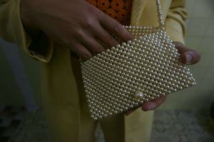 Mini Pearl Purse:[Past out]:[vintage clothes]