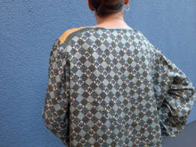 Blouse made of Dior material | monogram | L/XL:[Past out]:[vintage clothes]