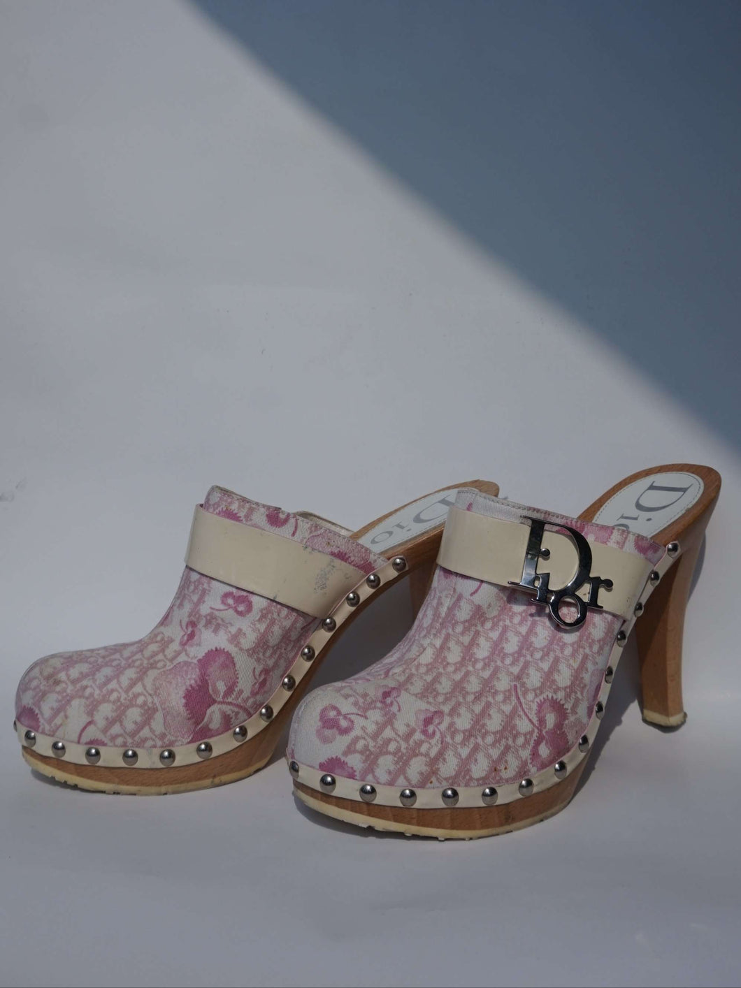 Y2k Dior Monogram Mules | Christian Dior by Galliano | 2004 Diorissimo Girly | 38.5:[Past out]:[vintage clothes]