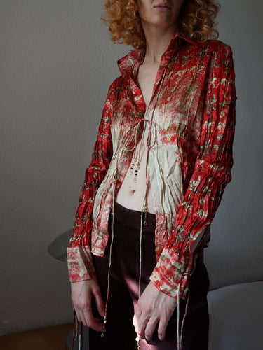 Y2k Roberto Cavalli Silk blouse | S:[Past out]:[vintage clothes]