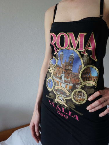 2003 D&G Roma Italia Dress with Bra | y2k Dolce Gabbana | S:[Past out]:[vintage clothes]