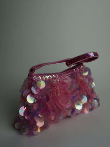 Y2k Tiny Beaded Purse | large sequin:[Past out]:[vintage clothes]