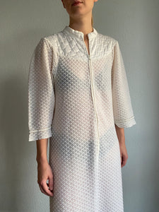 60s Christian Dior Lingerie Night Gown | Vintage Dior Dress | S-M