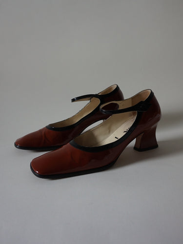Prada Patent Shoes | Kitten Heel | Mary Jane | 39.5