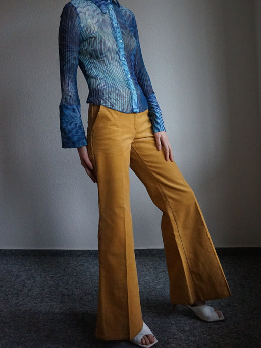 70s Corduroy Flared Pants | Flares | Bell Bottoms | XS