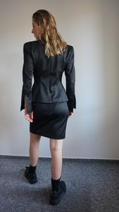 Vintage Thierry Mugler Structured Sculpted Skirt Suit | M