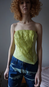 Y2k Lime Corset Top | Bustier | S and M