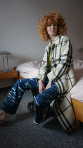 Burberry Nova Check Wool Coat | monogram | Long Coat | M