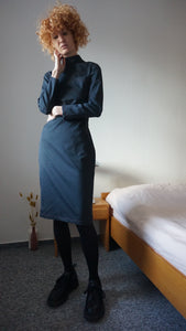 Jean Paul Gaultier Denim Dress | Jeans Dress | Mock Neck | XS