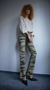 Y2k JUST CAVALLI pants | animal print | slightly flared | XS:[Past out]:[vintage clothes]