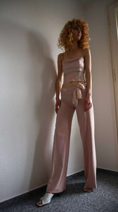 Y2k CRISTINA EFFE Pant Suit | crop top + pants | XS:[Past out]:[vintage clothes]
