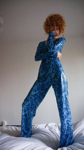 Patent Snakeskin Pattern Jumpsuit | S-M:[Past out]:[vintage clothes]
