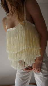 Top with Fringe | M/L:[Past out]:[vintage clothes]