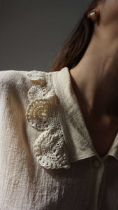 70s Crochet Blouse | S:[Past out]:[vintage clothes]