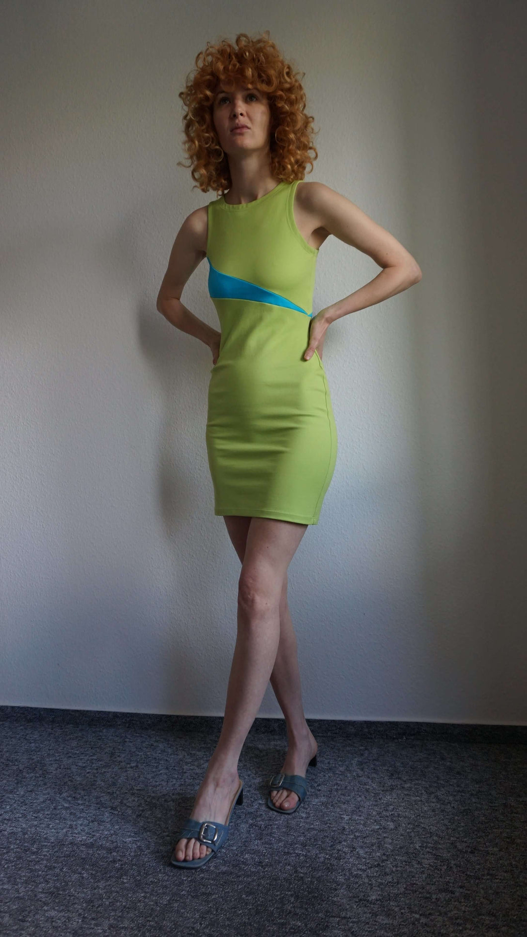 90s Versus Versace Neon Dress | XS/S:[Past out]:[vintage clothes]