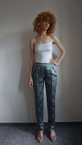 Deadstock Max Mara Pants | Floral Motives in Asian Style | S/M:[Past out]:[vintage clothes]