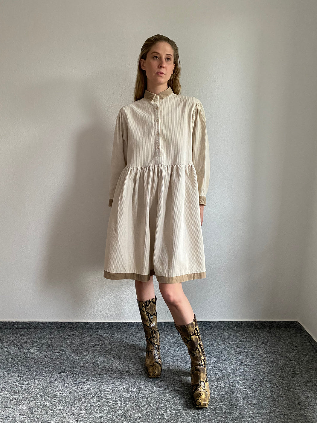 Vintage Kenzo Corduroy Dress | Oversized Baby Doll Dress | M