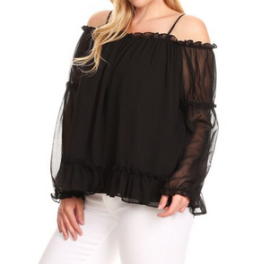 OFF SHOULDER TOP PLUS SIZE