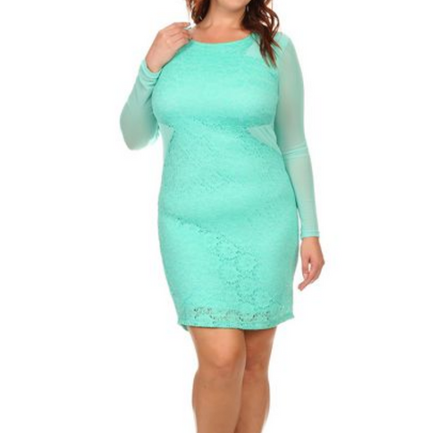 MINT DRESS PLUS SIZE