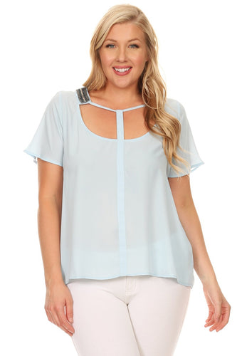 DAZZLED TEE PLUS SIZE