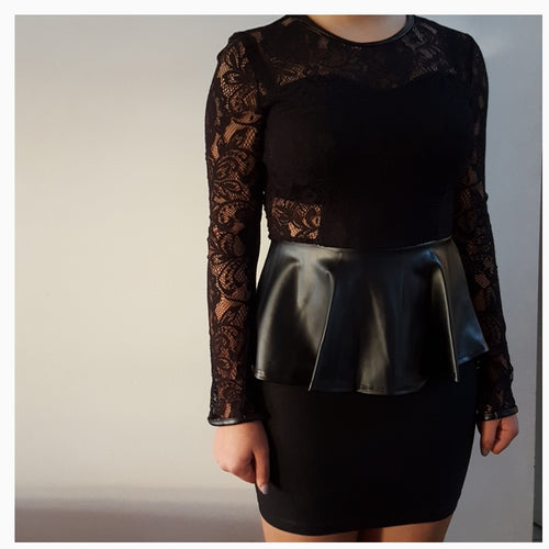 LITTLE BLACK PEPLUM DRESS