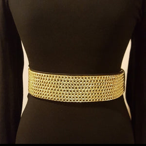 ELASTIC GOLD CHAIN BELT