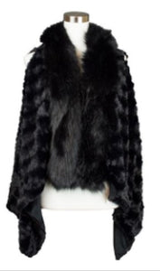 THROW-OVER FAUX FUR