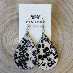 Cheetah Teardrop Earrings
