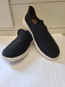 Black Leopard Slip On Sneaker
