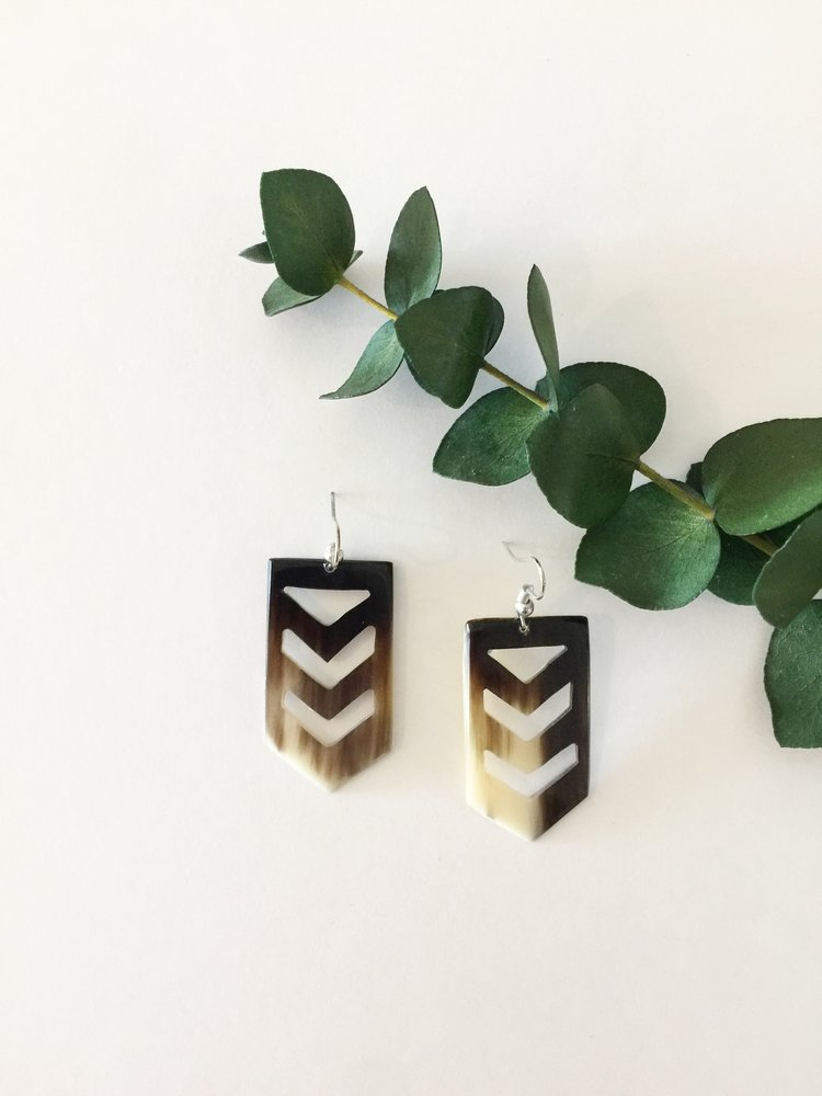 Chevron Horn Earrings