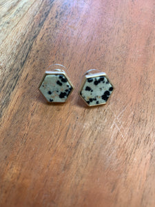 Hexagon Stud Earrings (3 colors)
