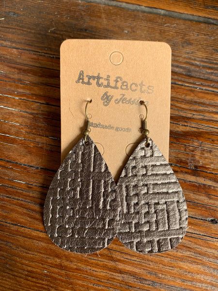 Leather Earrings (7 colors/styles)