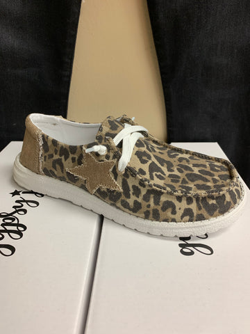 Leopard Boat Shoes