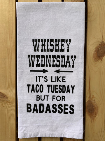 Whisky Wednesday tea towel