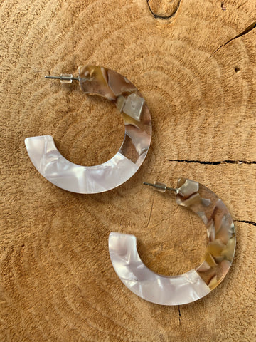 Neutral Acrylic Hoops