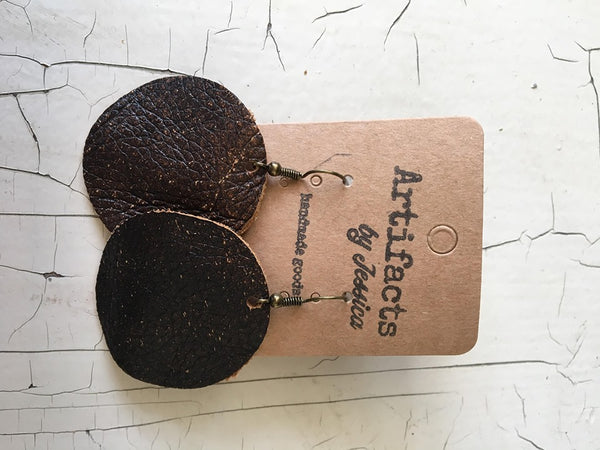 Leather Earrings (5 colors)