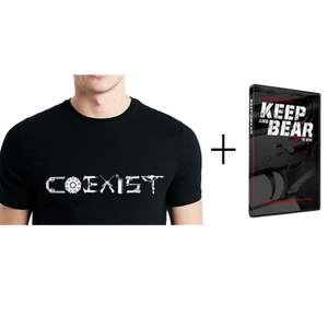 """COEXIST"" Pro Gun T-Shirt + Keep and Bear DVD"