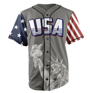 Grey TRUMP 45 Baseball Jersey