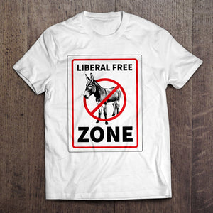 Liberal Free Zone T-Shirt (MADE IN THE USA)
